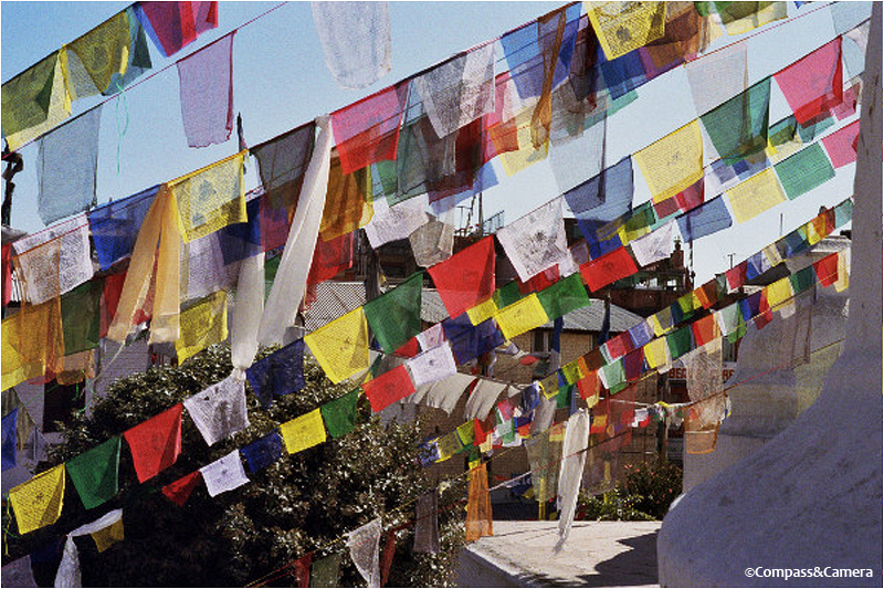 Prayer flags at Bodhnath