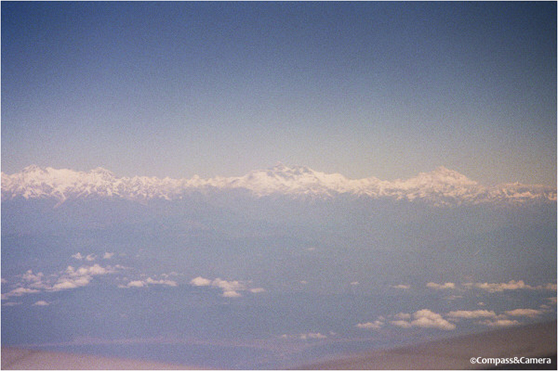 The Himalayas on arrival in Kathmandu