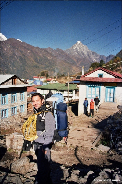 J on our first morning in Lukla