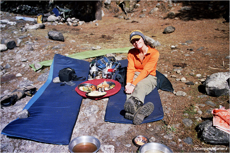 Lunch before the hike to Namche Bazaar