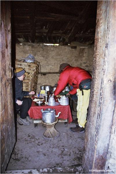 Dinner at the mud shack