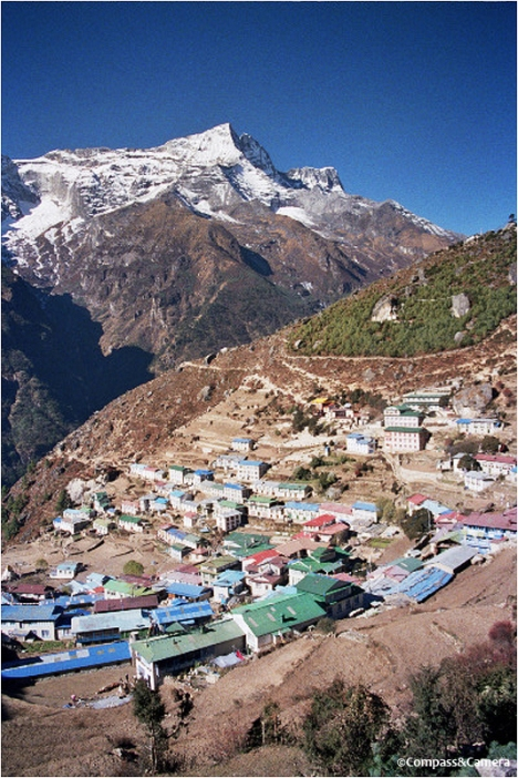 View from the top of Namche