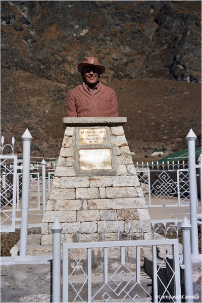 Bust of Sir Edmund Hillary at the Khumjung School