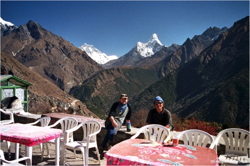 J, Ashish and Ama Dablam