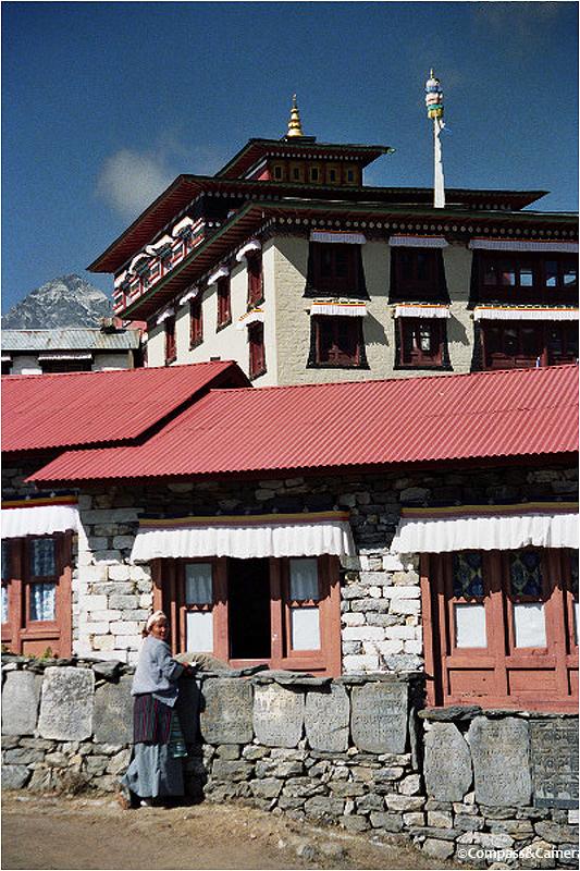 Mani stones at the monastery