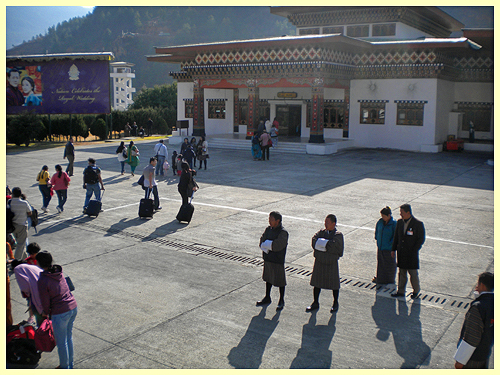 Arrival at the Paro airport