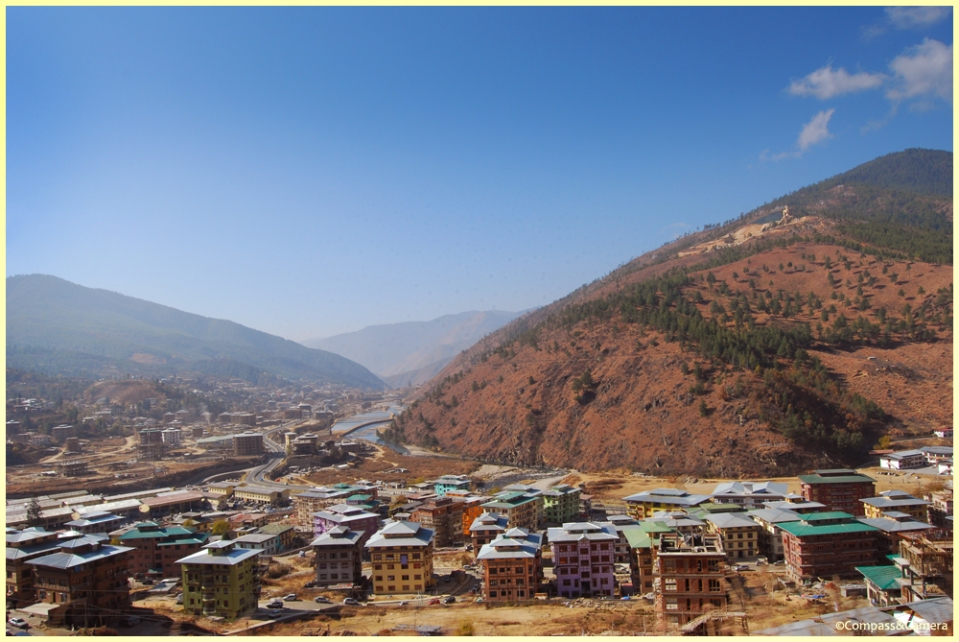 Thimphu and the sitting Buddha