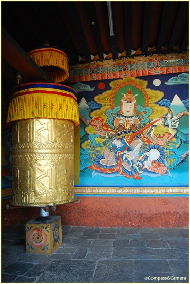 Prayer wheel at the entrance