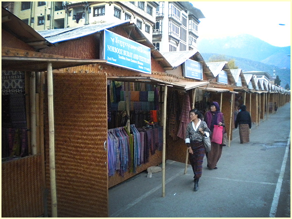 The Bamboo Stalls in Thimphu