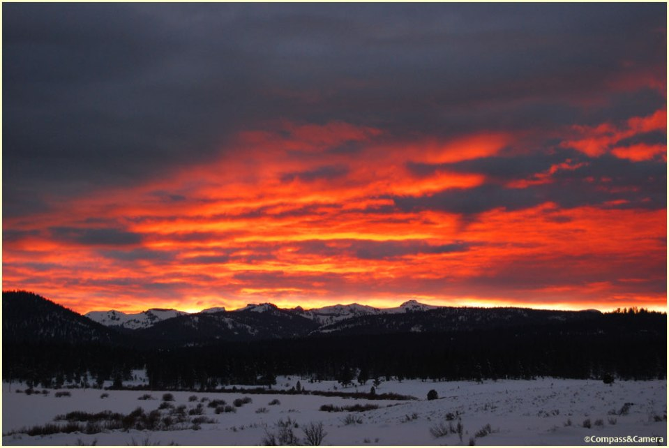 Sunset over Martis Valley on Sunday, January 6th :: North Lake Tahoe, California