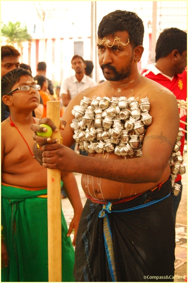 Preparing at Sri Srinivasa Temple