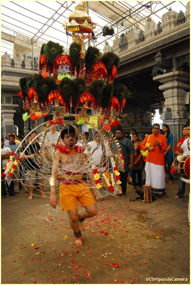 Dancing with a Vel Kavadi