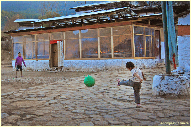 Football at Puna Lhakhang