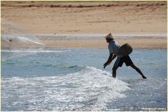 Net fisher at Nusa Dua