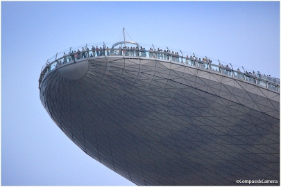 Spectators atop Marina Bay Sands