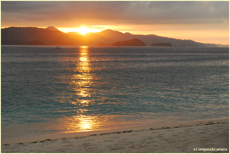 Sunset at Dimakya Island, Palawan, Philippines