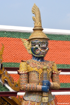 Demon Guardian near Phra Siratana Chedi