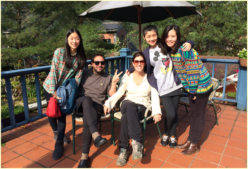 Me and Mr. Producer with our adoptive sisters in Nanzhuang