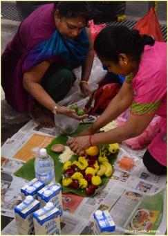 Preparing their offerings
