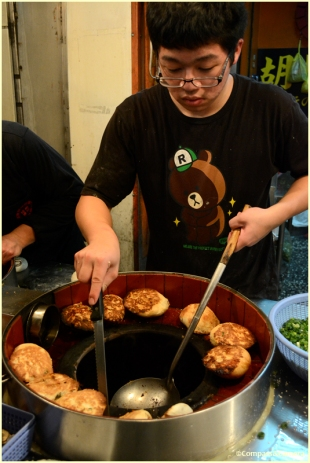 Peppered pork buns
