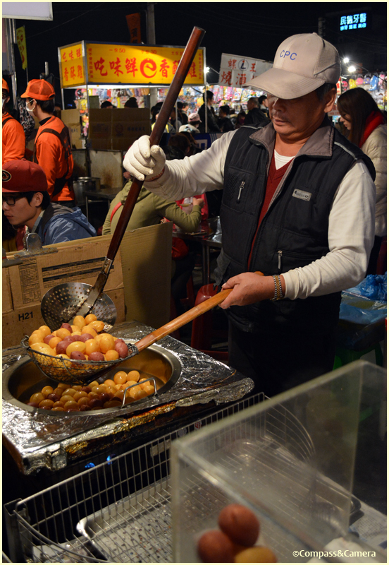 Fried water chestnuts