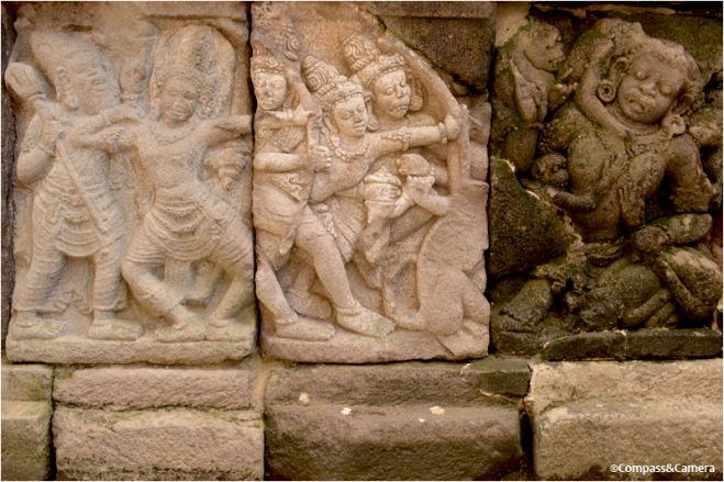 Bas-relief narrative panel