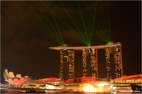 Marina Bay Sands light show