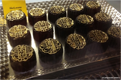 Black sesame mooncakes