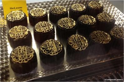 Black sesame mooncakes