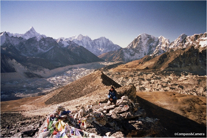 View over the Khumbu Valley