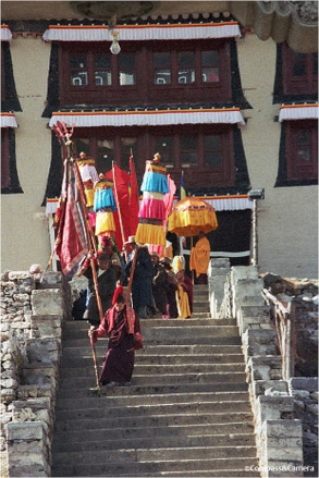 Procession from the monastery