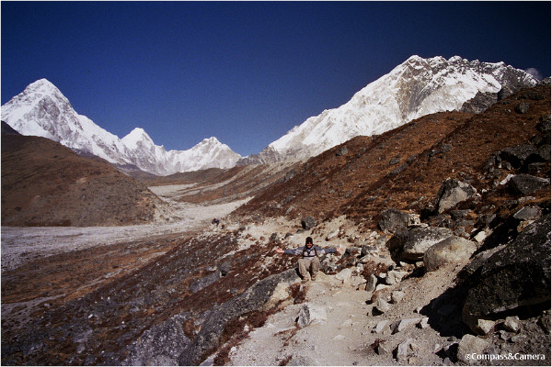 Pumori to the left, Nuptse to the right, J in the middle