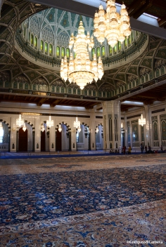 Prayer Hall and handmade carpet of Sultan Qaboos Grand Mosque