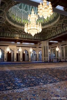 Prayer Hall and handmade carpet of Sultan Qaboos Grand Mosque