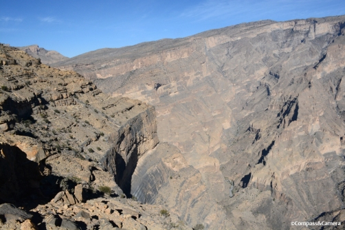The Balcony Walk and the bottom of Wadi Nakhr