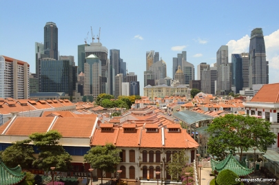 View over Chinatown and the CBD