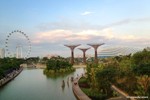 View over Gardens By the Bay