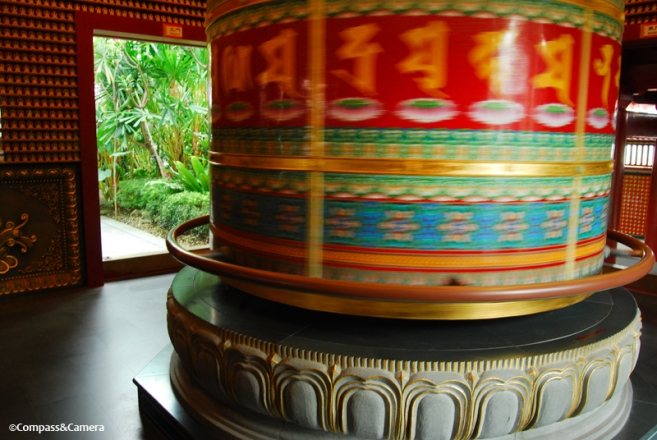 Buddha Tooth Temple prayer wheel