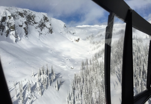 Heliski, Selkirk Mountains