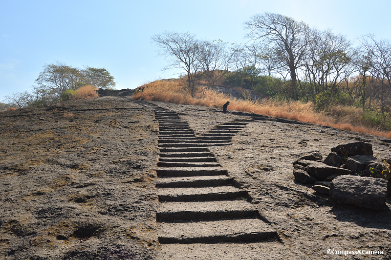 Hilltop path at the Kanheri Caves, Mumbai India
