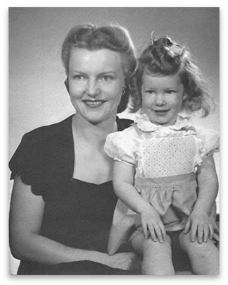 My grandmother and my mother, 1945