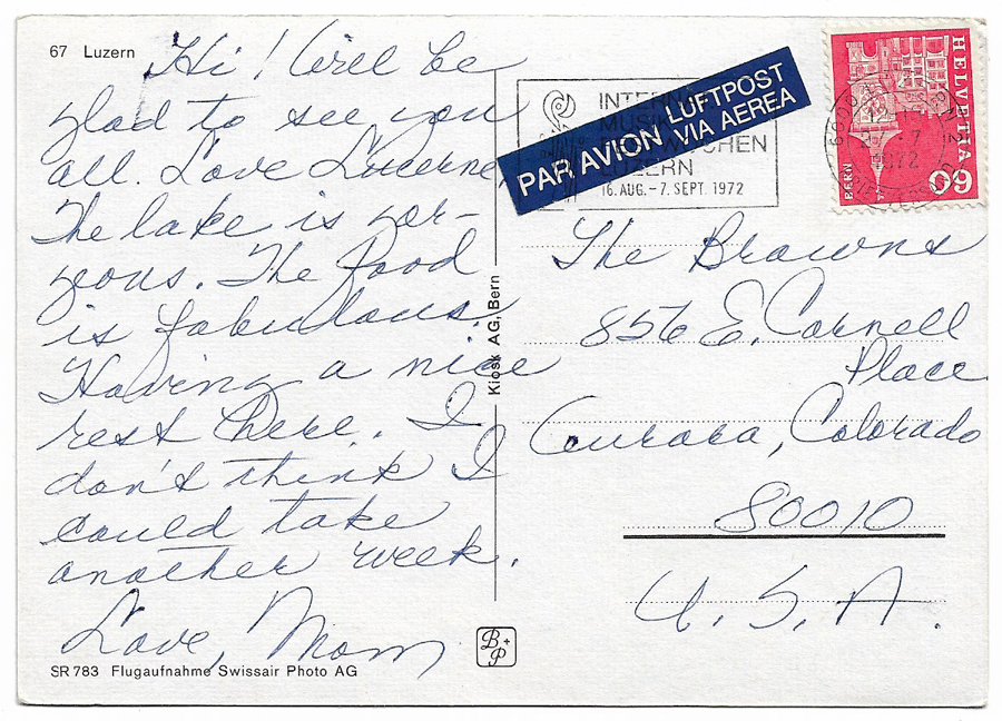 Postcards From My Grandmother, 1972