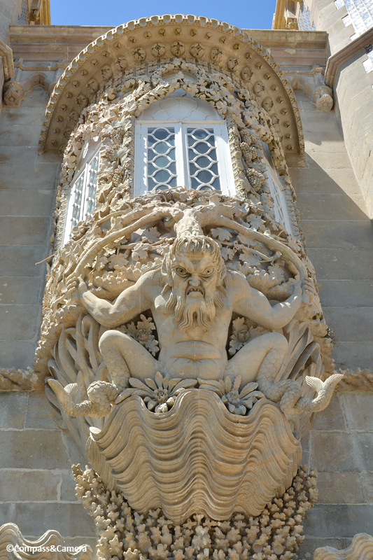 Mythical Triton at Pena Palace :: Sintra, Portugal