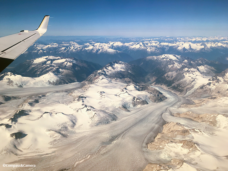 Flying over the Coast Mountains, British Columbia