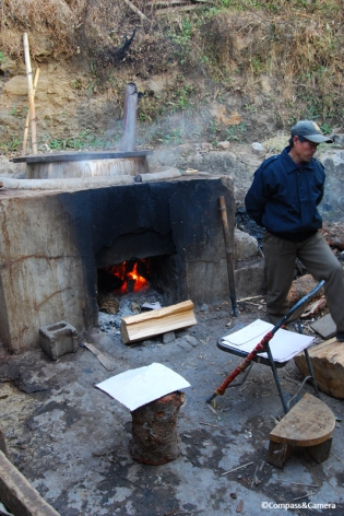 Preparing the Bark :: Bhutan