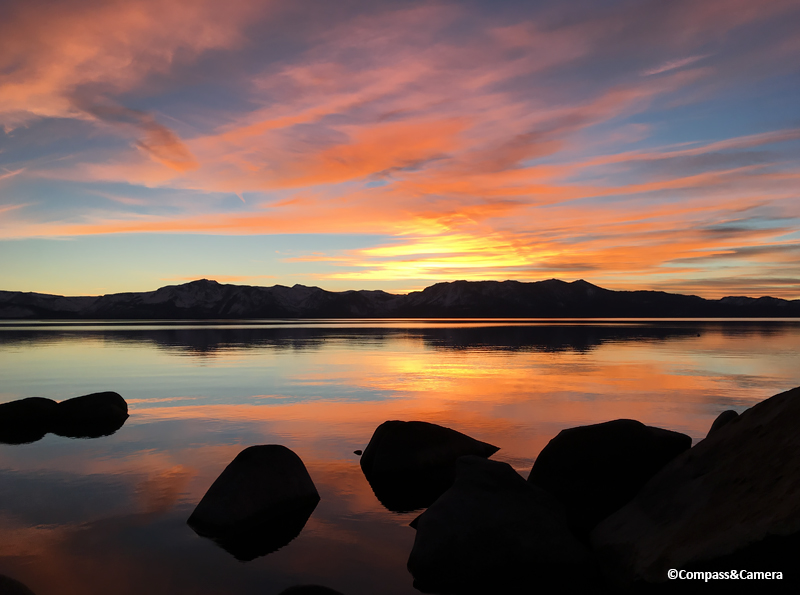 Winter sunset at Lake Tahoe