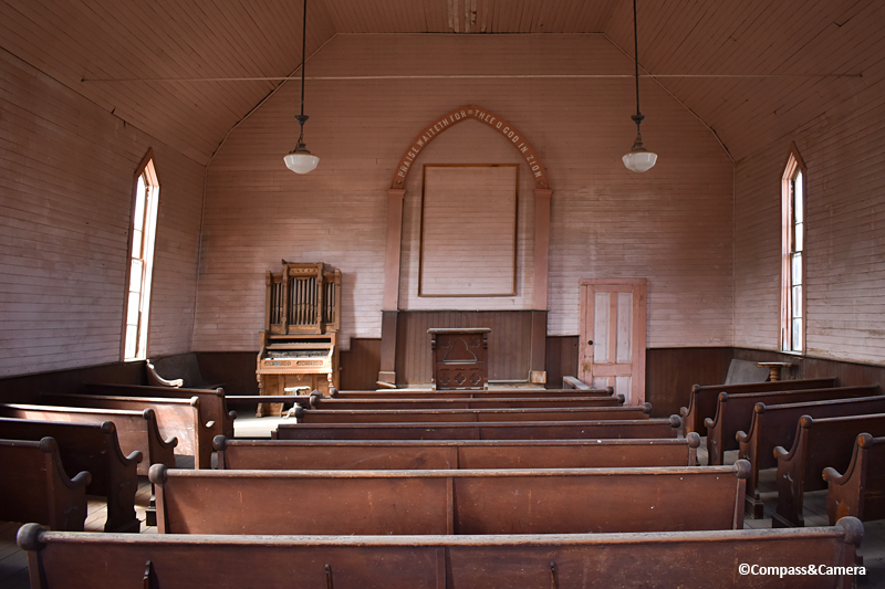 Bodie Methodist Church Interior
