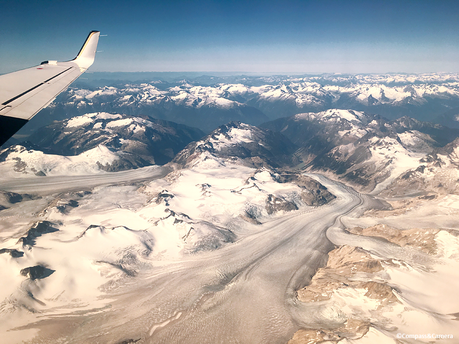 Glacier field from above