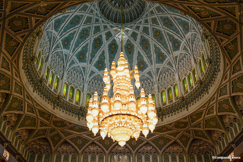 Chandelier of Sultan Qaboos Grand Mosque, Oman