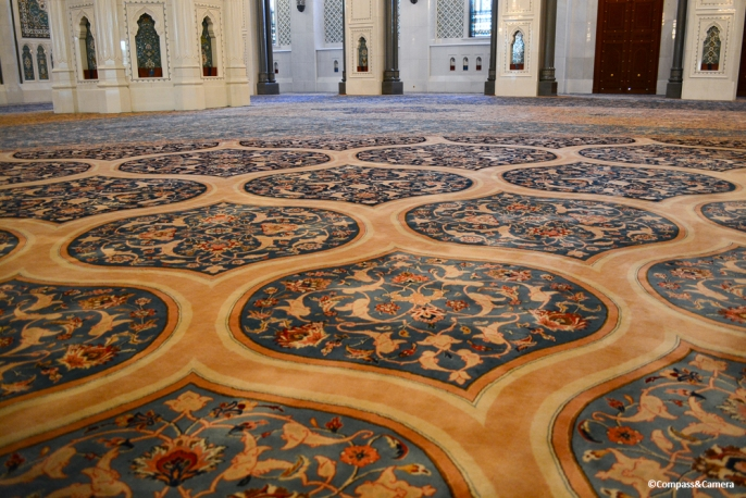 Prayer Carpet of Sultan Qaboos Grand Mosque, Oman